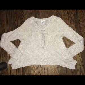 Sweaters - Semi-Cropped Knit Sweater